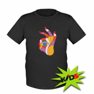 Kids T-shirt Colorful hand with eye