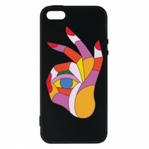 Etui na iPhone 5/5S/SE Colorful hand with eye