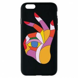 Etui na iPhone 6/6S Colorful hand with eye