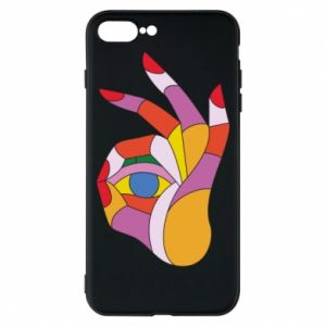 Etui na iPhone 8 Plus Colorful hand with eye