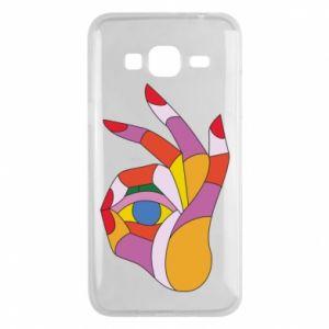 Etui na Samsung J3 2016 Colorful hand with eye