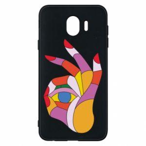 Etui na Samsung J4 Colorful hand with eye