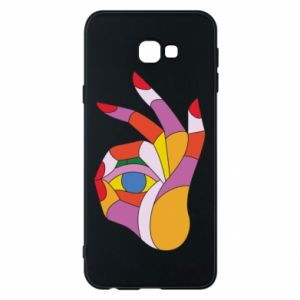 Etui na Samsung J4 Plus 2018 Colorful hand with eye
