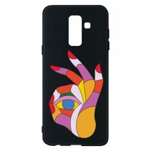 Etui na Samsung A6+ 2018 Colorful hand with eye