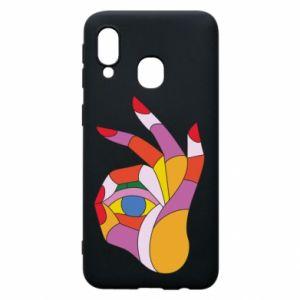 Etui na Samsung A40 Colorful hand with eye