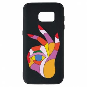 Etui na Samsung S7 Colorful hand with eye