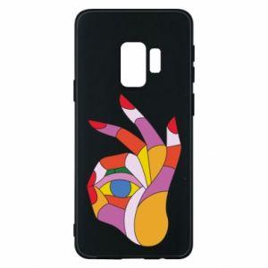 Etui na Samsung S9 Colorful hand with eye