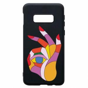 Etui na Samsung S10e Colorful hand with eye