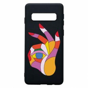 Etui na Samsung S10 Colorful hand with eye