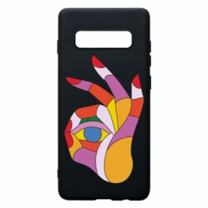 Etui na Samsung S10+ Colorful hand with eye