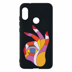 Etui na Mi A2 Lite Colorful hand with eye