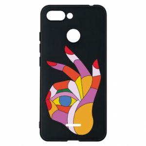 Etui na Xiaomi Redmi 6 Colorful hand with eye