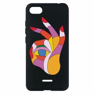 Etui na Xiaomi Redmi 6A Colorful hand with eye