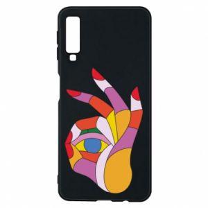 Etui na Samsung A7 2018 Colorful hand with eye