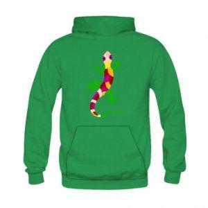 Bluza z kapturem dziecięca Colorful lizard