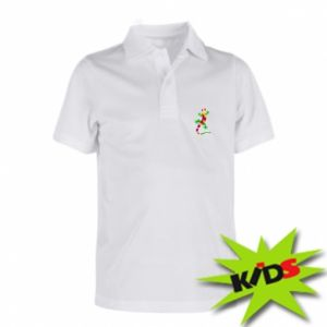 Koszulka polo dziecięca Colorful lizard