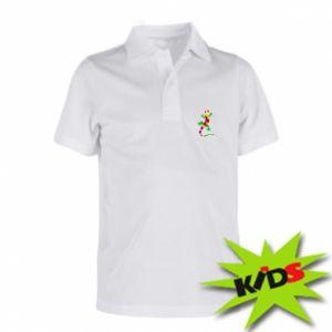 Children's Polo shirts Colorful lizard - PrintSalon