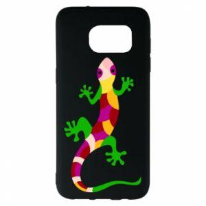 Etui na Samsung S7 EDGE Colorful lizard