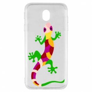 Etui na Samsung J7 2017 Colorful lizard