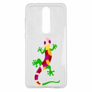 Etui na Nokia 5.1 Plus Colorful lizard