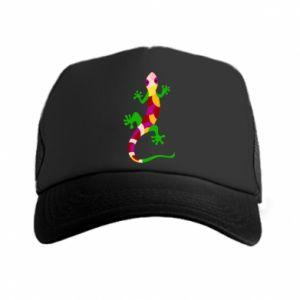 Trucker hat Colorful lizard - PrintSalon