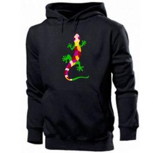 Men's hoodie Colorful lizard - PrintSalon