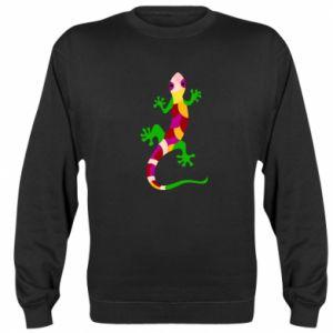 Sweatshirt Colorful lizard - PrintSalon