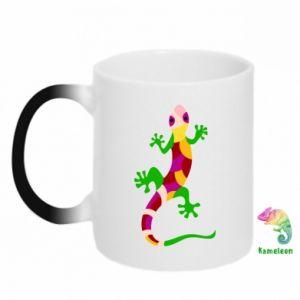Kubek-magiczny Colorful lizard