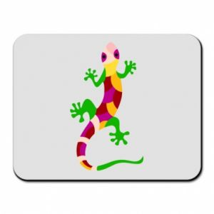 Mouse pad Colorful lizard - PrintSalon