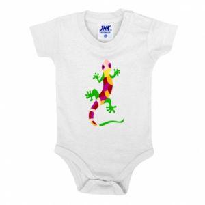 Baby bodysuit Colorful lizard - PrintSalon
