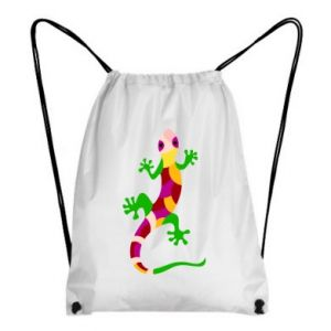 Backpack-bag Colorful lizard - PrintSalon