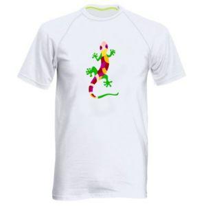 Men's sports t-shirt Colorful lizard - PrintSalon