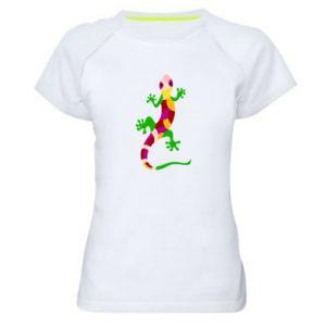Women's sports t-shirt Colorful lizard - PrintSalon