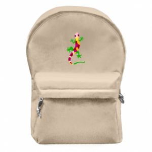 Backpack with front pocket Colorful lizard - PrintSalon