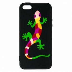 Etui na iPhone 5/5S/SE Colorful lizard