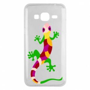 Phone case for Samsung J3 2016 Colorful lizard - PrintSalon