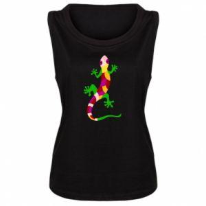 Women's t-shirt Colorful lizard - PrintSalon