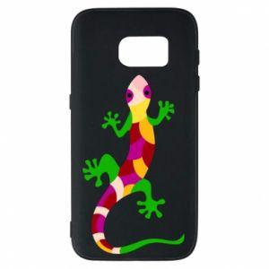 Phone case for Samsung S7 Colorful lizard - PrintSalon