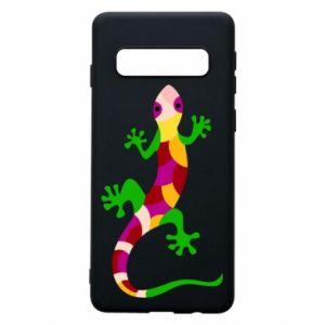 Phone case for Samsung S10 Colorful lizard - PrintSalon