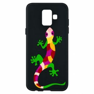 Phone case for Samsung A6 2018 Colorful lizard - PrintSalon