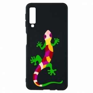 Phone case for Samsung A7 2018 Colorful lizard - PrintSalon