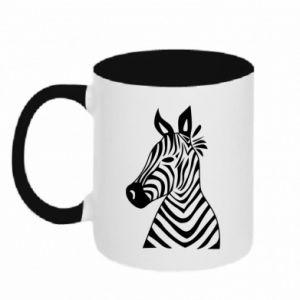 Kubek dwukolorowy Colorful zebra