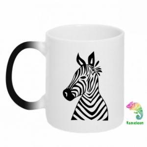 Kubek-kameleon Colorful zebra