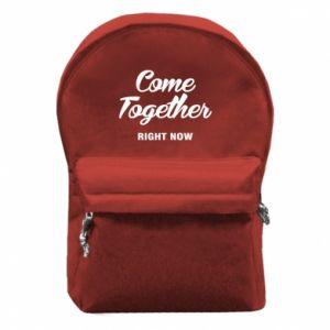 Plecak z przednią kieszenią Come together right now