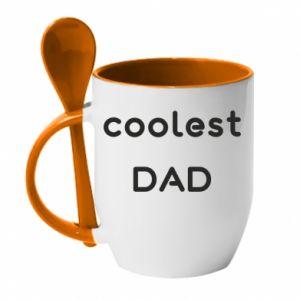 Kubek z ceramiczną łyżeczką Coolest dad