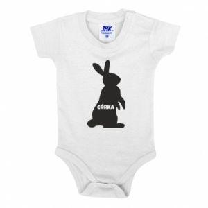 Baby bodysuit Daughter - Bunny - PrintSalon