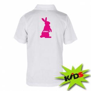 Dziecięca koszulka polo Córeczka - królik