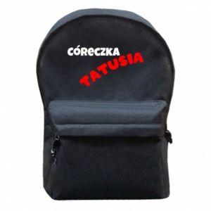Plecak z przednią kieszenią Córeczka tatusia