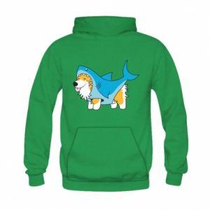 Bluza z kapturem dziecięca Corgi Disguise as Shark