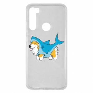 Etui na Xiaomi Redmi Note 8 Corgi Disguise as Shark